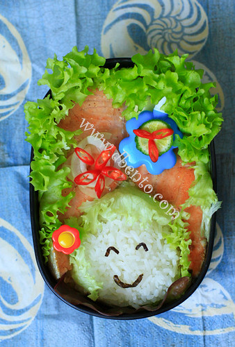 cara membuat steak salmon bento