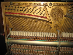 Berlin Piano - inside left side (before restoration) (Ponyta!) Tags: music ontario berlin montral antique montreal victorian piano kitchener beethoven restored classical upright mozart musique vivaldi droit classique victorien restaur