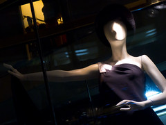 Posing in the spotlight (Kohei Ueda (f.k.a. Lindeberg Feller)) Tags: street mannequin night lumix display snap panasonic shopwindow dmc lx5 storedummy