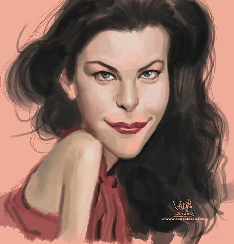 digital caricature study of Liv Tyler - 1