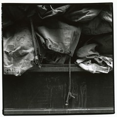 Mail bags (Drew on Flickr) Tags: rolleiflex mediumformat rollfilm squarepicture