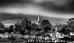 Town & Country, Bray, Co Wicklow, Ireland (2c..) Tags: ireland sky bw cloud building church field skyscape wicklow 2c 72dpipreview lowresolutionpreview