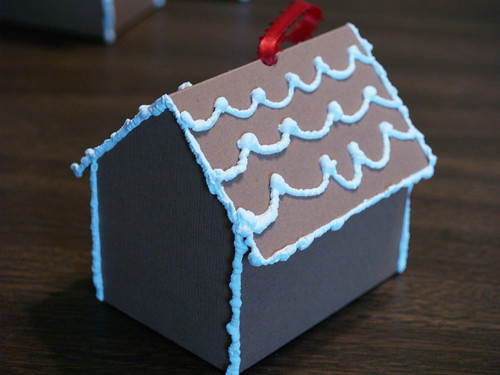 Paper Gingerbread House, Step 7