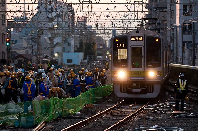 京王電鉄笹塚駅工事臨時ダイヤ