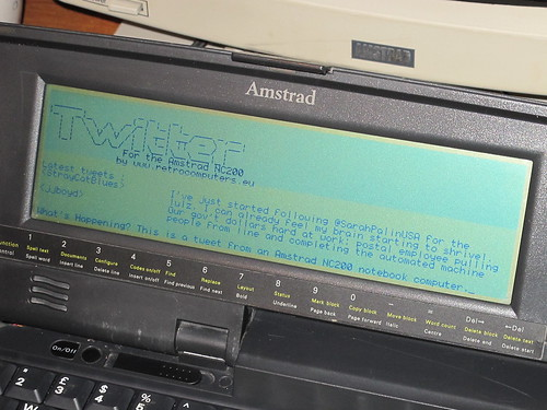 Amstrad NC200 on Twitter