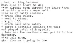 It's only noon. (prescience) Tags: typewriter writing poetry document prose typewriterblues
