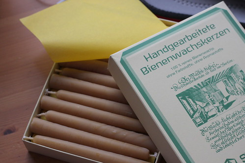 stockmar beeswax christmas candles.