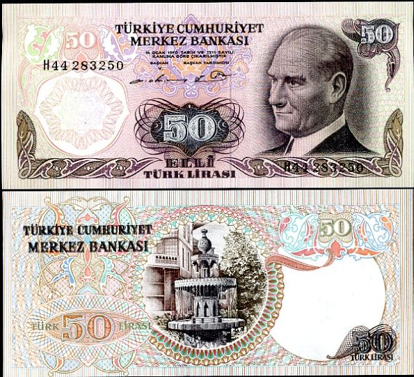 50 Lír Turecko 1976, P188