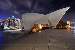 sydney opera house at night (Pawel Papis Photography) Tags: street city bridge sky cloud house blur architecture night concrete lights movement opera stair long exposure harbour sydney australia bulding