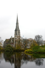 St. Alban's Church (jaβon) Tags: fall copenhagen denmark fort pentagram fortress danmark anglican københavn 2010 kastellet arthurblomfield stalbanschurch