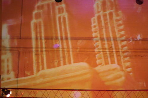 NY city video projection