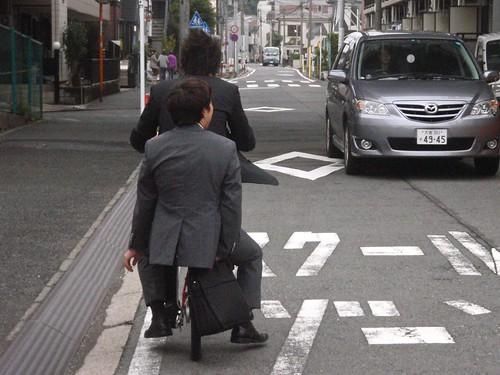 Salarimen en bicicleta