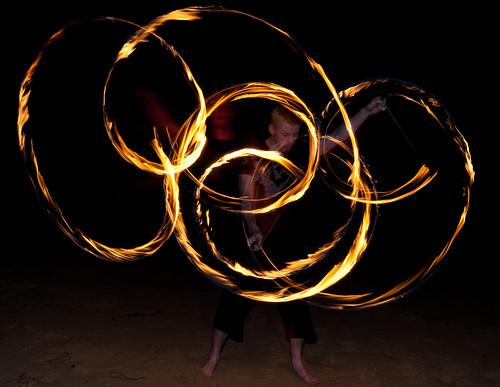 Mikhail firetwirling