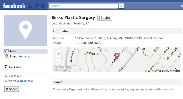 Merging Facebook Places with Facebook Fan Pages | Search