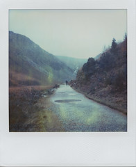 Distinctly damp (Rhiannon Adam) Tags: ireland winter mist mountains landscape polaroid sx70 glacialvalley gleanndloch integralfilm