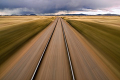 Andean Express (pantha29) Tags: motion blur peru southamerica lines 1025fav speed train cool movement track colours vibrant horizon perspective vivid rail railway olympus andes distance velocity railwaytrack zuiko railtrack e510 cool2 moodysky cool5 cool3 cool6 cool4 andeanexpress 1260mm cool7 iceboxcool unanicool