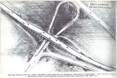 Broadway Burlingame interchange (1940) (Eric Fischer) Tags: plan us101 bayshorefreeway unitedstateshighway101