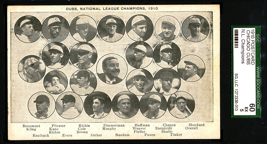 "1910 Cubs ""National League Champions"" PC"