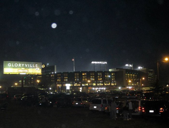 365/351: Moon Over Lambeau Field