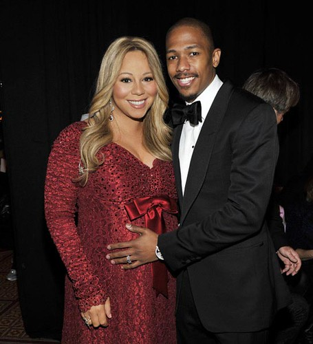 "Five-Months-Pregnant Mariah Carey and Nick Cannon at TNT's ""Christmas in Washington 2010"" in DC"