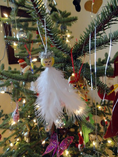 Feathery Angel Ornament