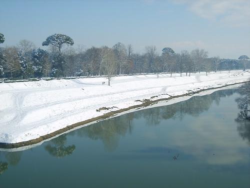 Firenze Le Cascine con la neve - Florence Le Cascine with snow