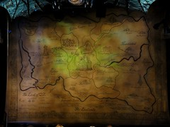DSC06838 (Kate Hedin) Tags: show new york city nyc ny clock set lights dragon map stage broadway musical wicked emerald munchkinland