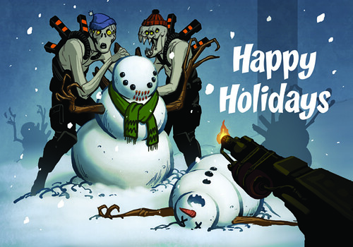 Insomniac Games 2006 Holiday card