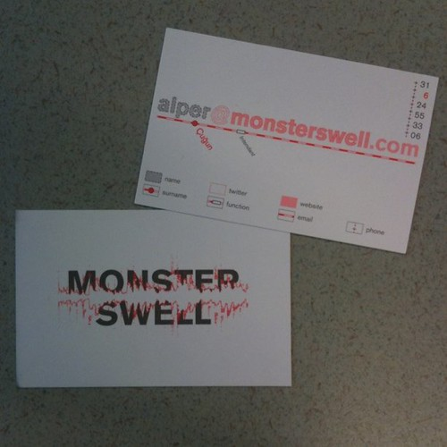 Checking out Alper's hella sweet Monsterswell cards designed by BUROPONY
