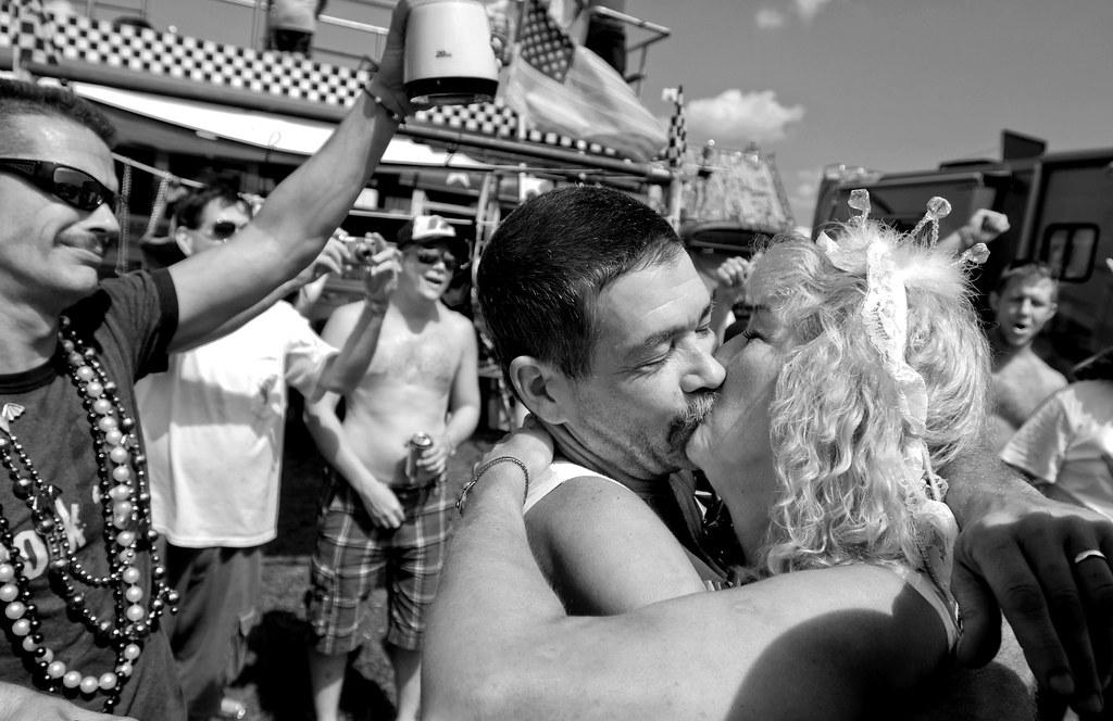 NASCAR wedding (black and white)