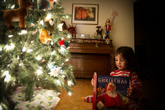 Merry Christmas Sabine (aboutrc) Tags: girl reading book readingbook merrychristmas nightbeforechristmas christmasstory