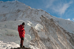 Nima Nuhru at Camp 2 (radson1) Tags: nepal expedition mountaineering everest sherpa 2010 nuptse camp2 downsuit