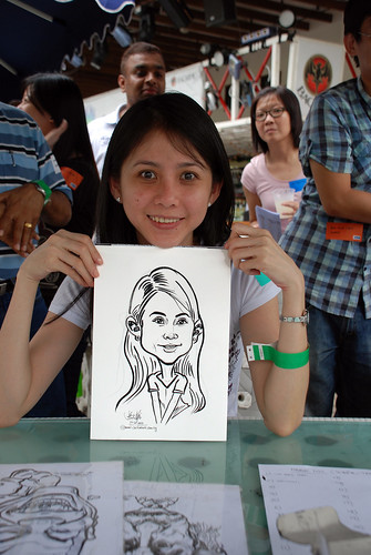 Caricature live sketching for VISA Beach Party 2010 -2