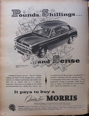 It Pays To Buy a Morris - advert issued by Morris Motors, 1955 (mikeyashworth) Tags: 1955 oxford advert morris cowley everybodys morrisoxford britishmotorcorporation morrismotors everybodysweekly mikeashworthcollection