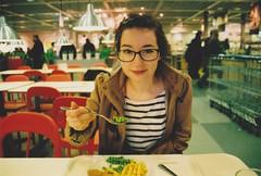 Peas (Tom Endean) Tags: food ikea girl glasses bokeh peas