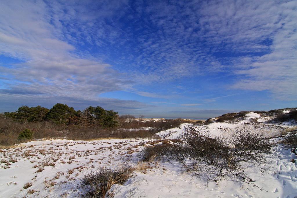 dunes & snow & sky (& ocean)
