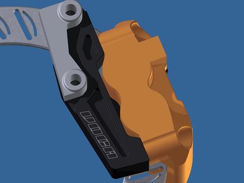 Soporte pinza VOCA RACING para acoplar pinza delantera Stage6 4 pistones para Pitbike 5319877279_dafab5c8e4