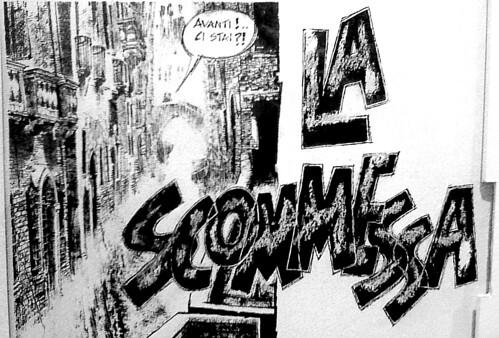 Dino Battaglia La Scommessa (dettaglio)