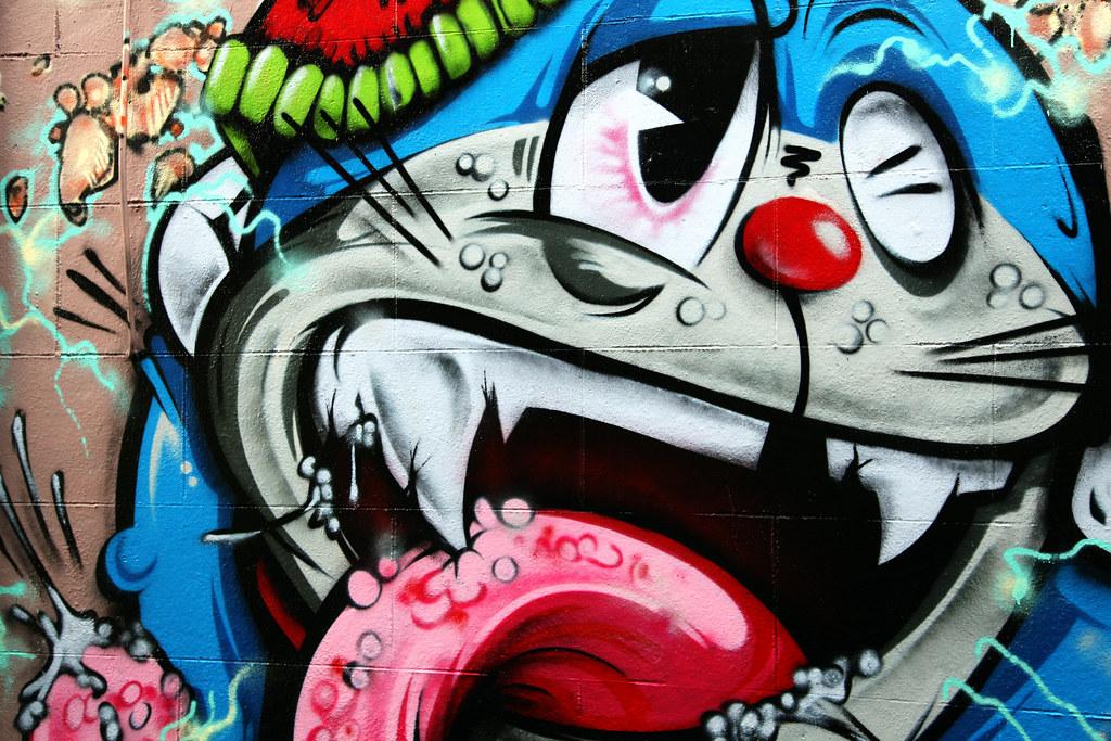 Gambar World Photos Doraemon Graffiti Flickr Hive Mind
