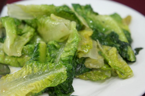 Stir-fried Lettuce with Preserved Soy Bean (RM10)