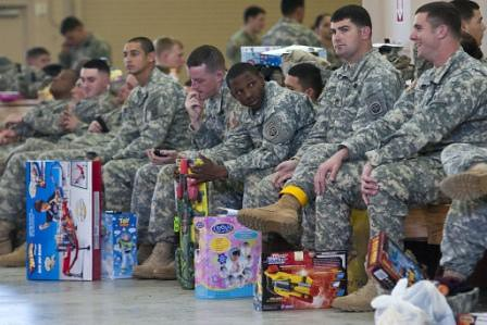 Army Paratroopers Donate Toys to Needy Children