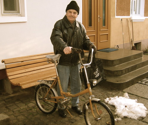 My grandfather and his bike