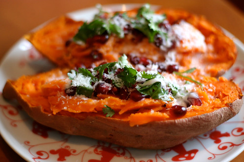 Sweet Potato with Pomegranate, Coconut and Lime - Tasty Yummies