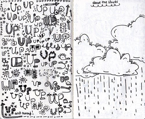 sketchbook project>> up/cloud spread
