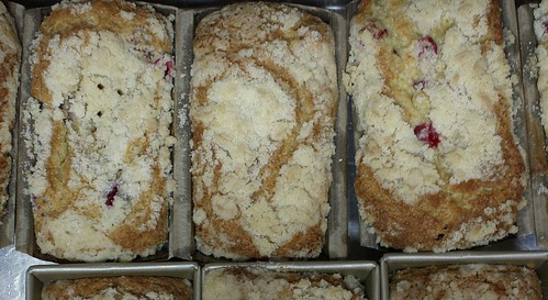 Eggnog Cranberry Bread