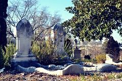 (ash) Tags: old atlanta urban cemetery ga dead oakland downtown graves ghosts clurbex