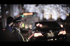 The Guard (soshiro) Tags: christmas japan night canon tokyo bokeh candid illumination roppongi    eos5d  ef135mmf2l