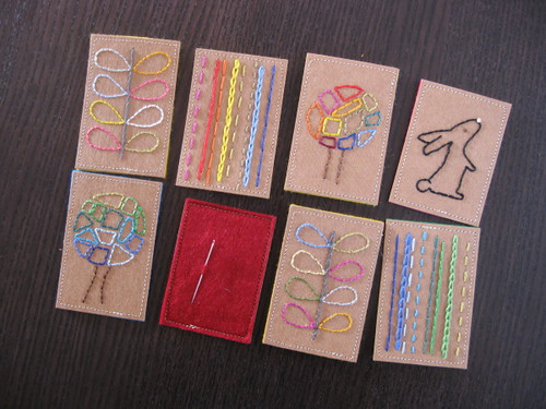 Needle Holders on Kraft Paper Fabric