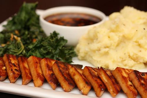 Asian Tofu with Mashed Potatoes