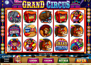 The Grand Circus slot game online review